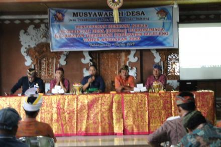 Kegiatan Musdes Desa Tukadsumaga Bulan Juli 2019